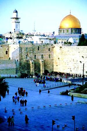耶路撒冷 哭墙前面的祈祷