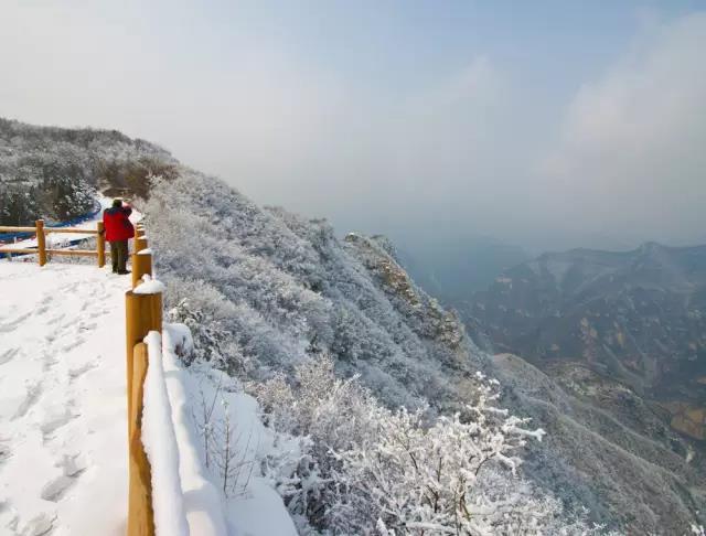 青天河迎来今冬初雪,带你追寻向往的冬季雪景