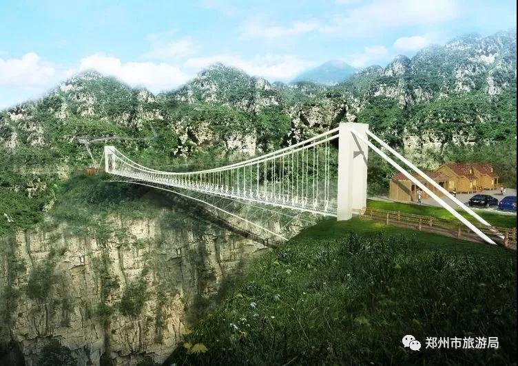 竹林镇长寿山景区中原首座7d玻璃天桥即将开放!河南网