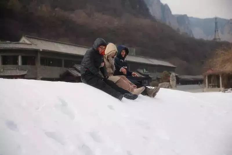 云台山为游客奉上春节大餐!新春冰雪灯光秀,让您欢乐过大年